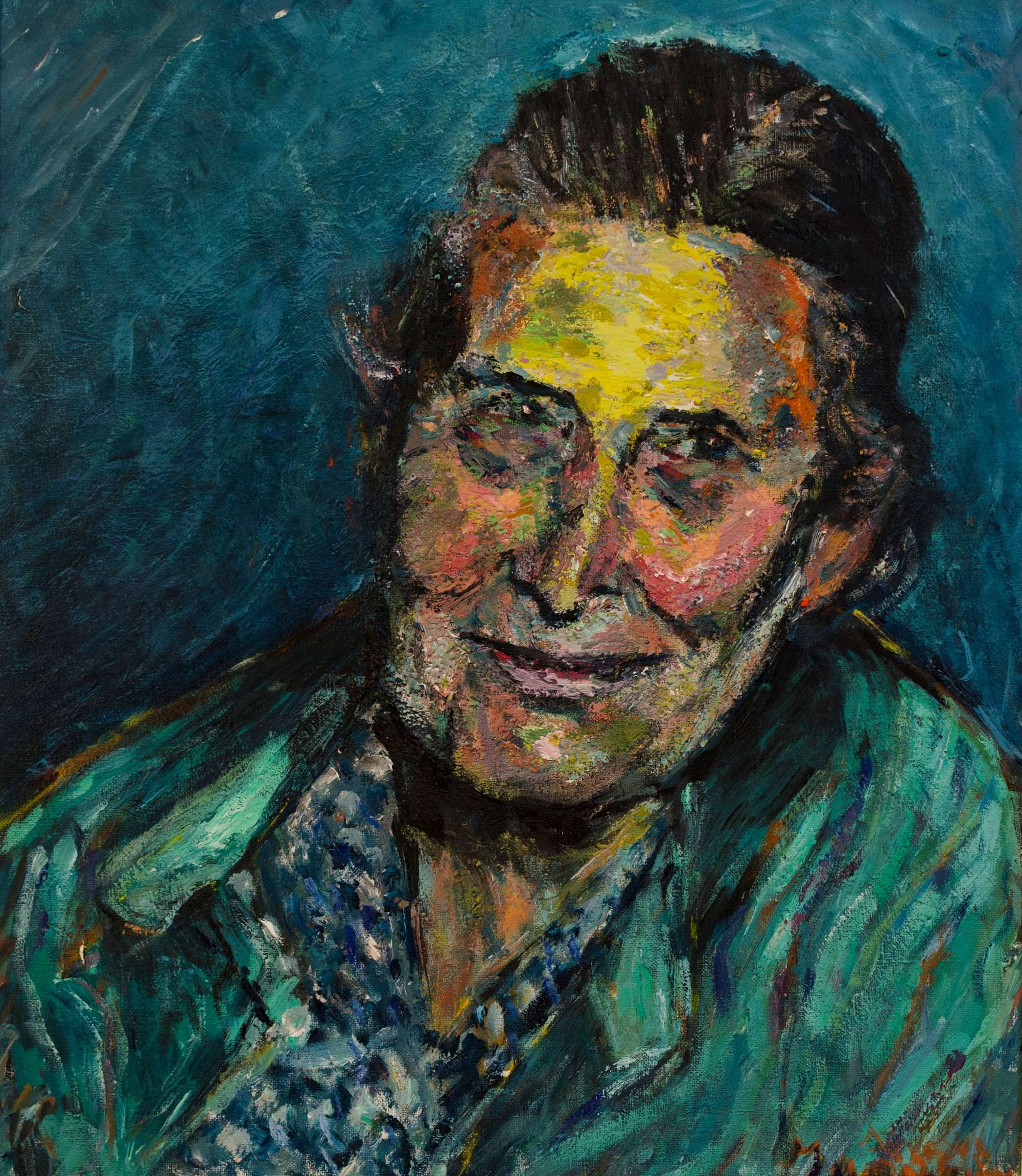 18Mixed technic.Grandmother.45x50cm