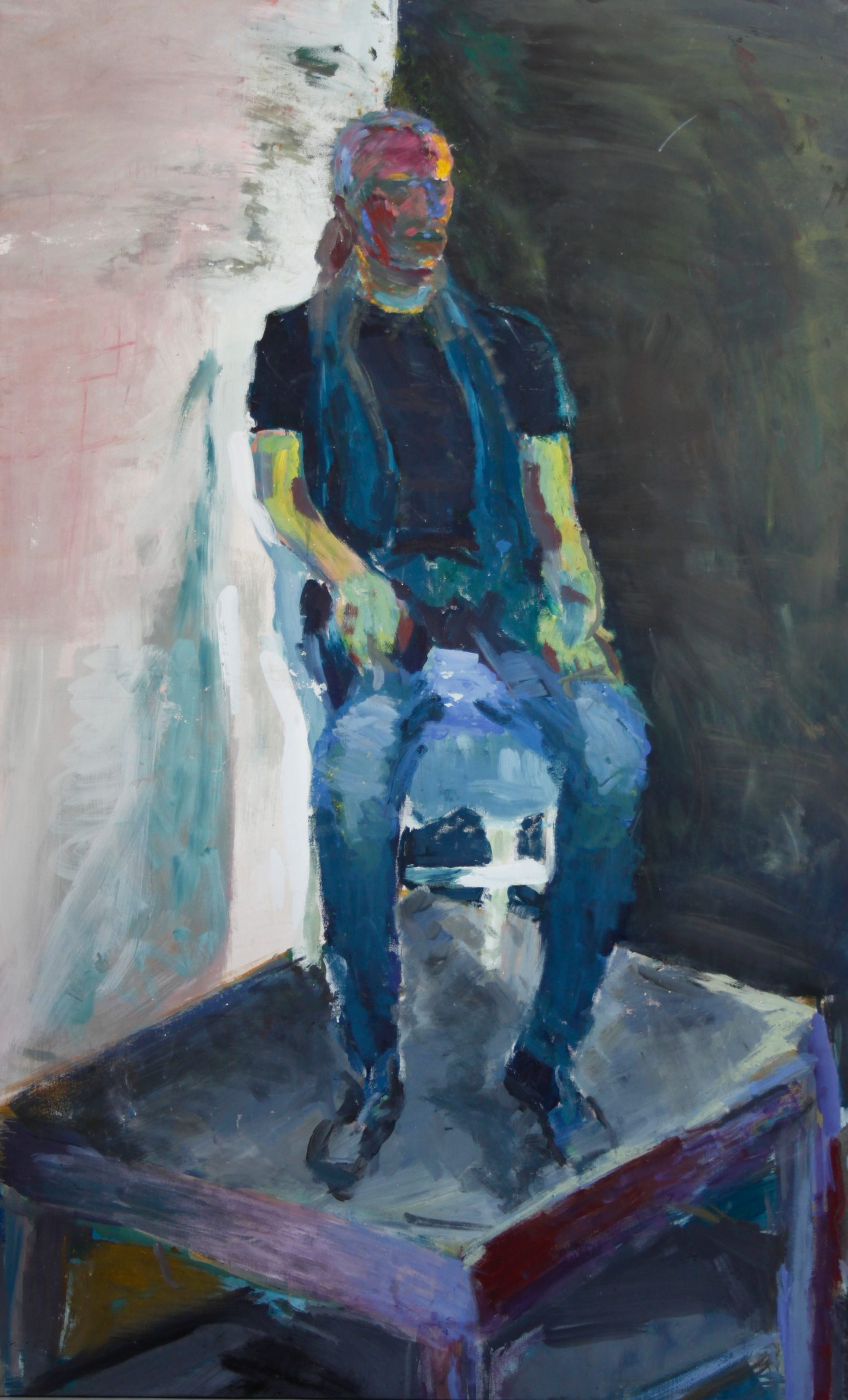 6Acrylic.Sitting.87x183cm