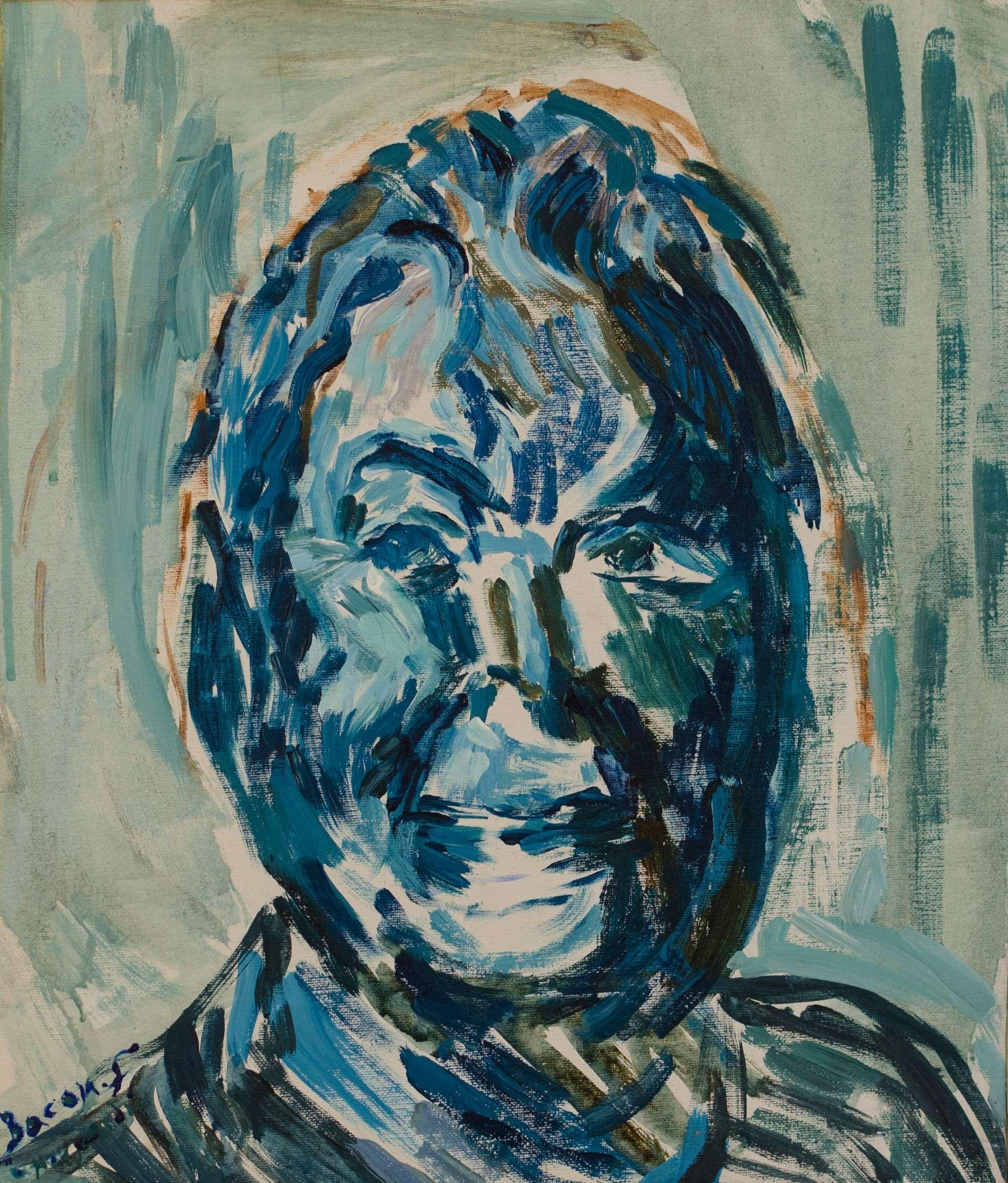 7Acrylics. Francis Bacon .35x41 cm