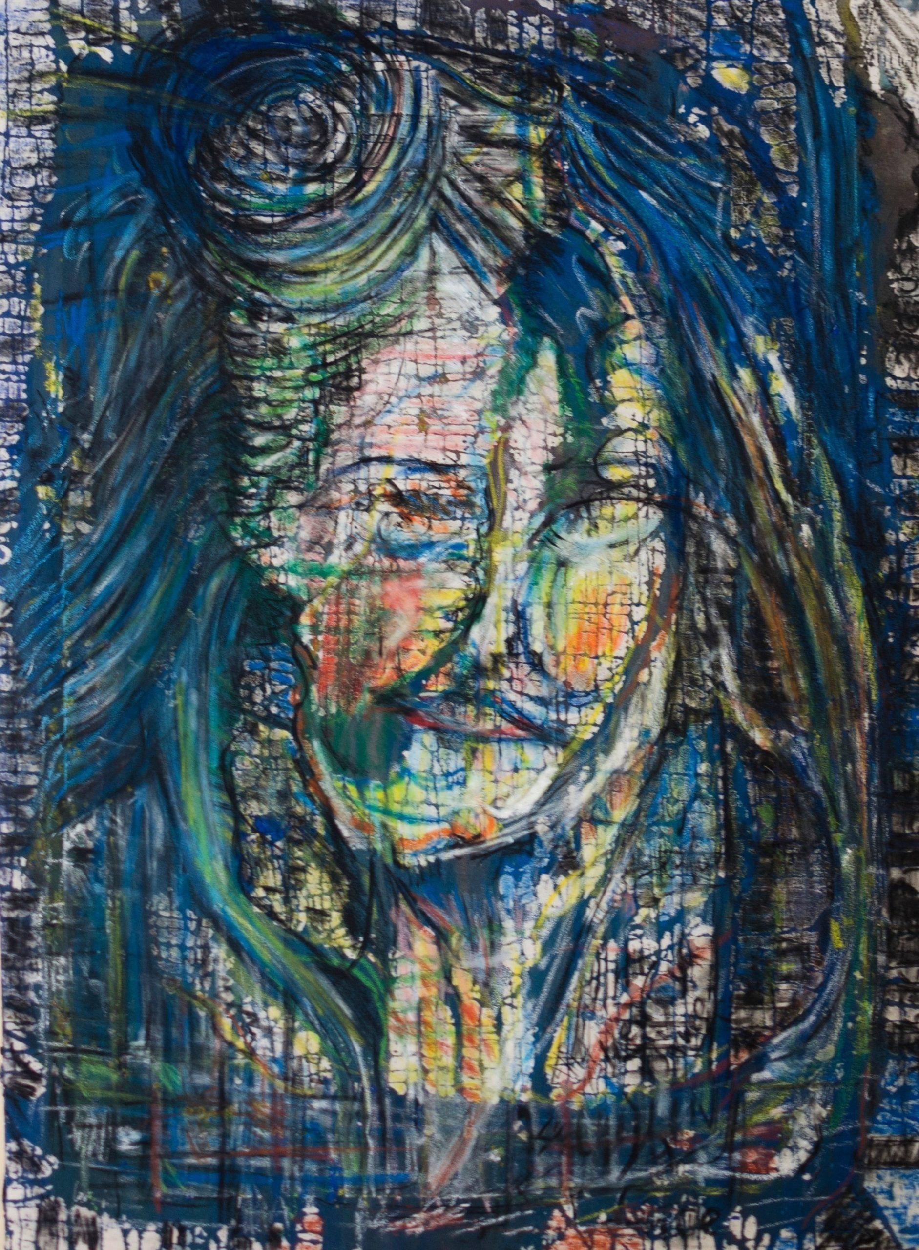 Plastic colours,oil pastel,mixed technik. mam,78x102cm