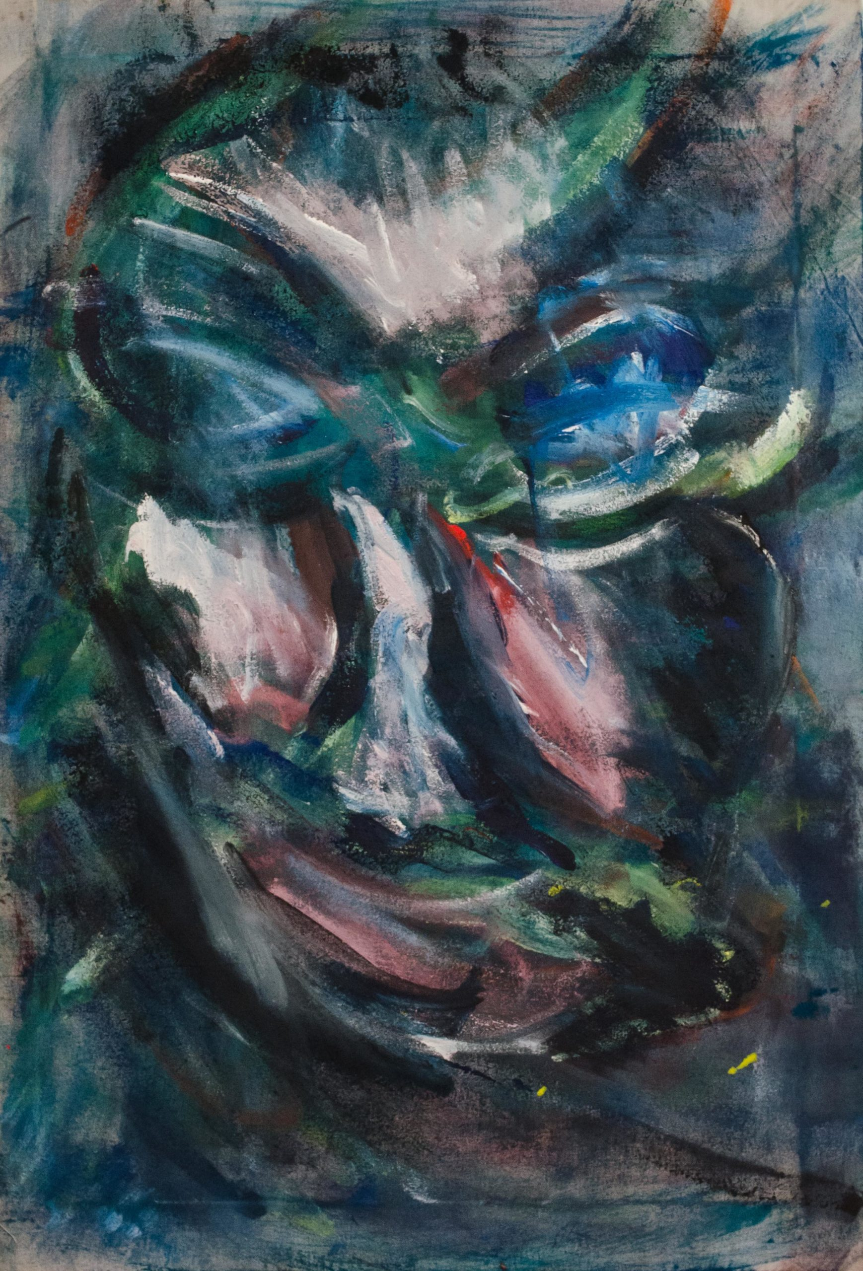 Selfportrait - Acrylic col - 52x77cm