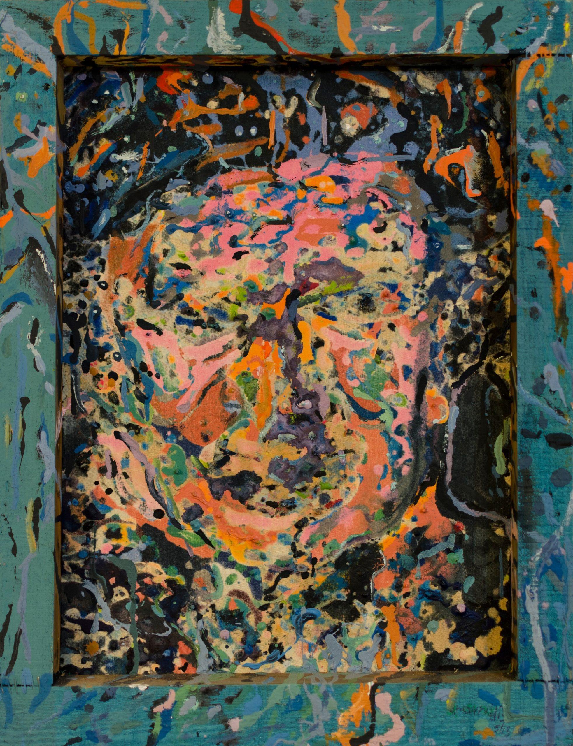 Spring portrait - Back view - Plastic colors - 37x48cm