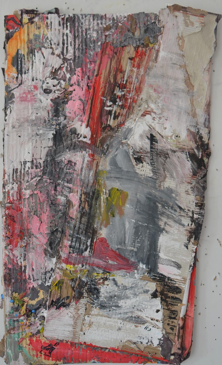 Faceoff - Acrylic colors - 28x57cm