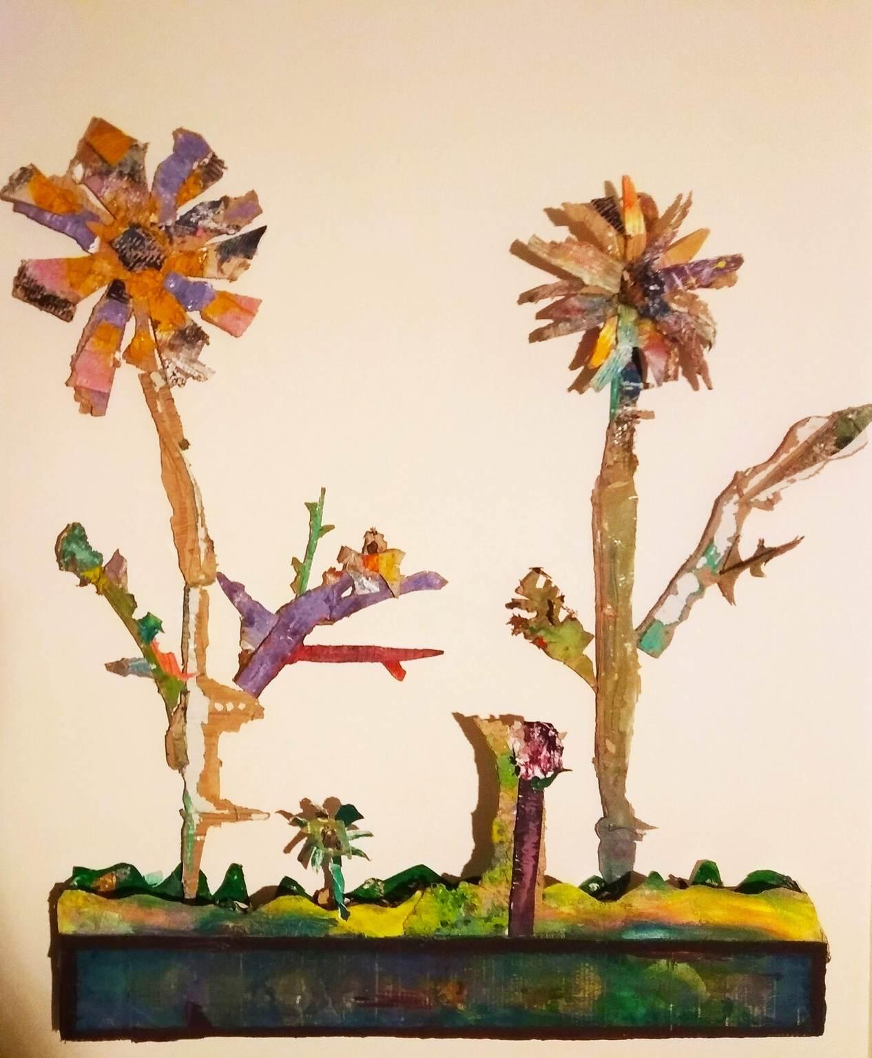 Flowers - Mixed technic - 100x160cm