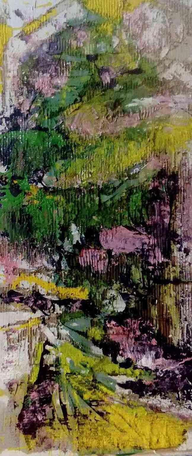 Garden - Acrylic colors - 48x110cm